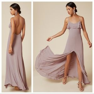Reformation Gertrude dress purple size 6